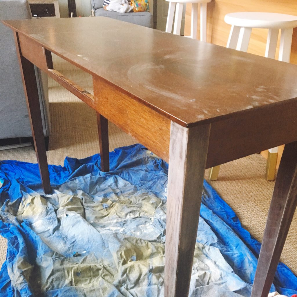 Sanded console table