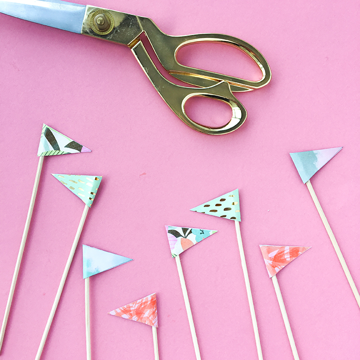 Craft Reed Diffuser DIY Paper Flags