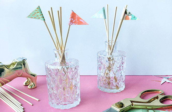DIY Craft Reed Diffuser Paper Flags