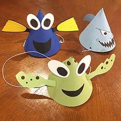 Finding Nemo Themed DIY Paper Party Hats
