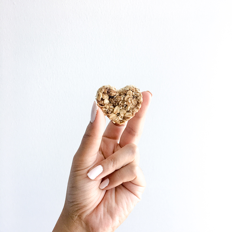 Heart Shaped Homemade Peanut Butter Oat Dog Treats