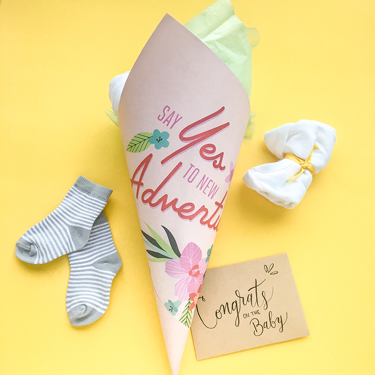 OMC Baby Shower Bouquet Congrats