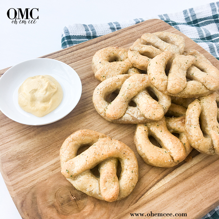 OMC Paleo Pretzels Board Mustard