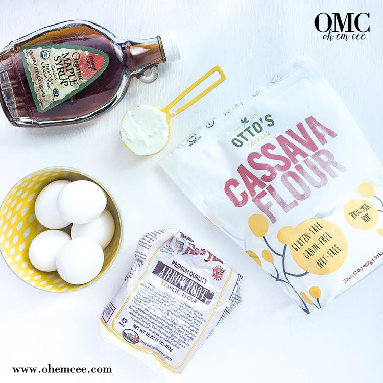 OMC Paleo Pretzels Ingredients Maple Syrup Eggs Cassava Flour