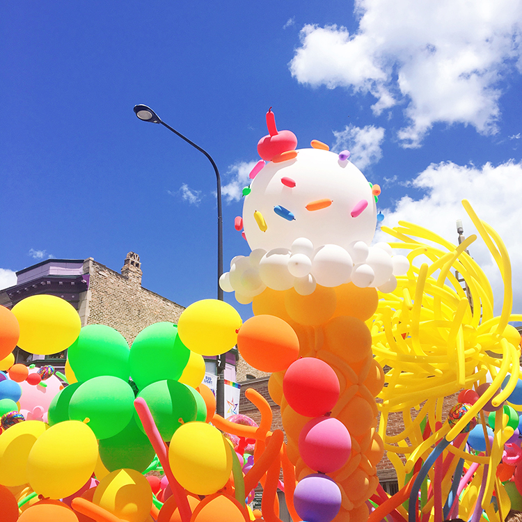 OMC Gay Pride Parade Chicago Balloons