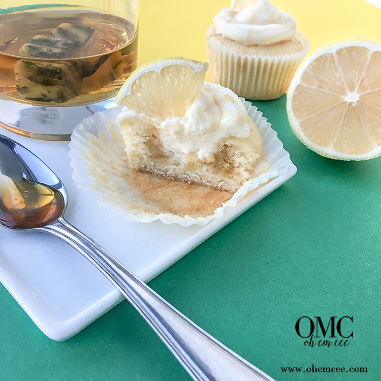 OMC Hot Toddy Cupcakes Honey Whiskey Sauce Center