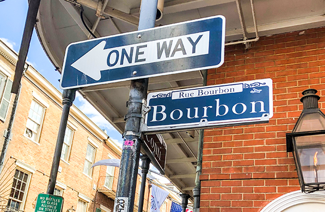 OMC New Orleans Bourbon Street Sign