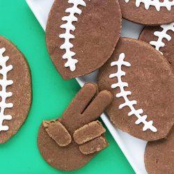 Homemade Chocolate Football Cookies