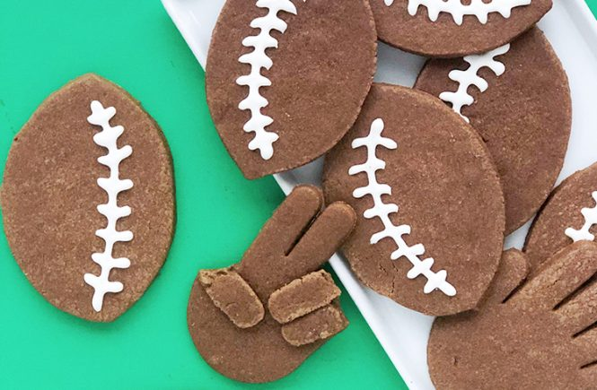 Homemade Chocolate Football Cookies