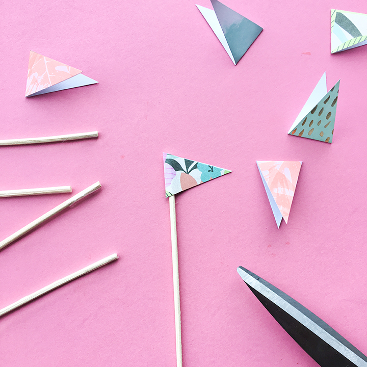 DIY Reed Diffuser Crafting Paper Flags