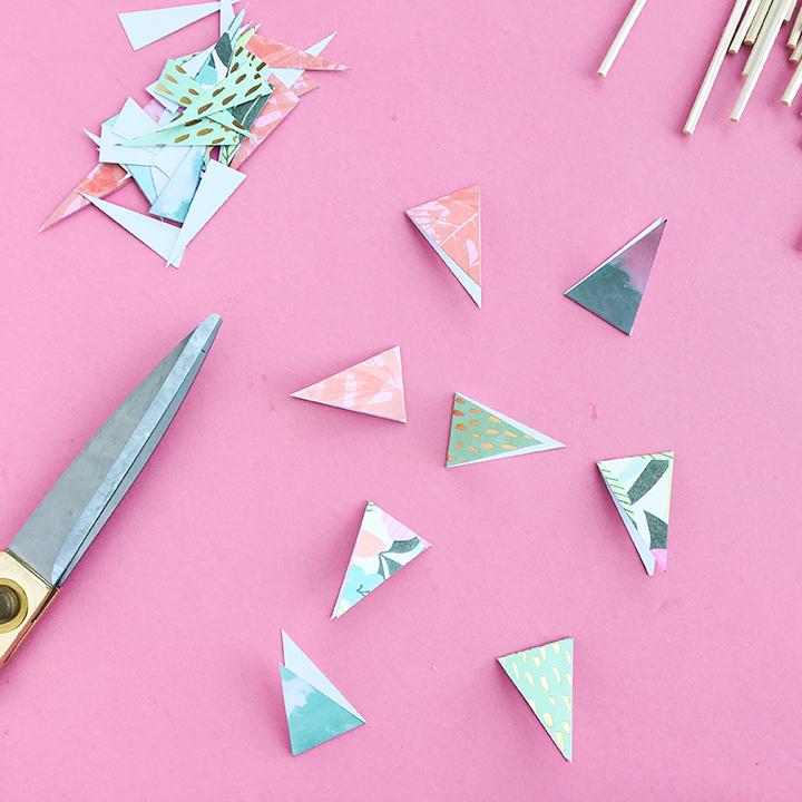 DIY Reed Diffuser Crafting Paper Flag Cutouts