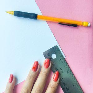 DIY Reed Diffuser Crafting Paper Flag Ruler Measurements Step 1