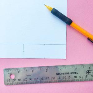 DIY Reed Diffuser Crafting Paper Flag Ruler Measurements Step 2