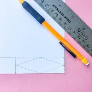 DIY Reed Diffuser Crafting Paper Flag Ruler Measurements Step 3