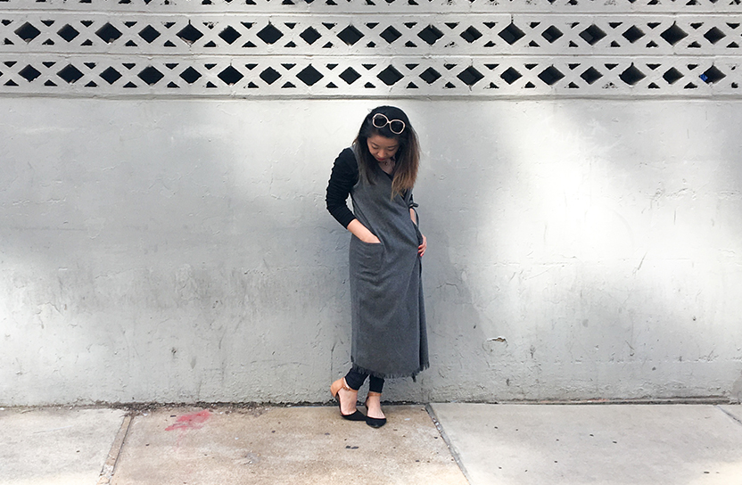 Thrift Store Style Full Length Duster with Pockets