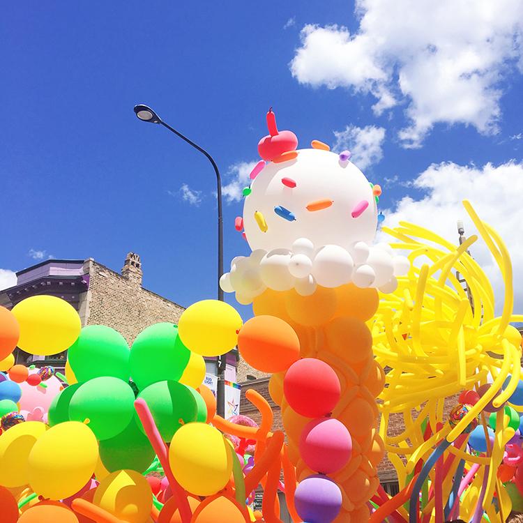 OMC Gay Pride Parade Chicago Balloons