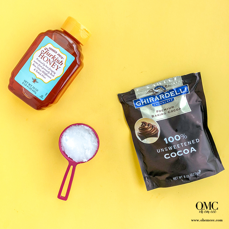 OMC Homemade Chocolate Ingredients Honey Coconut Oil Cocoa