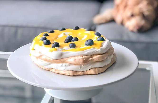 Mango Curd Pavlova Cake